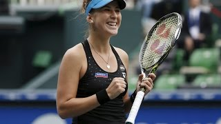 Belinda Bencic VS Eugenie Bouchard Highlight Toronto 2015 R1