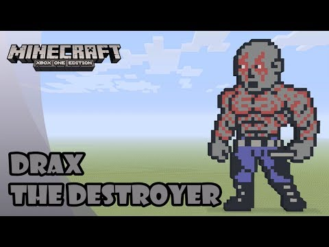 Minecraft: Pixel Art Tutorial and Showcase: Drax The Destroyer (Guardians of the Galaxy Vol. 2)