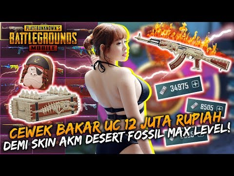 Cewek Bakar Uc 12 Juta Rupiah Demi Skin Akm Desert Fossil Max Level!   Pubg Mobile