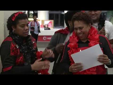 Seta Tamanivalu welcomed by the Fiji Community