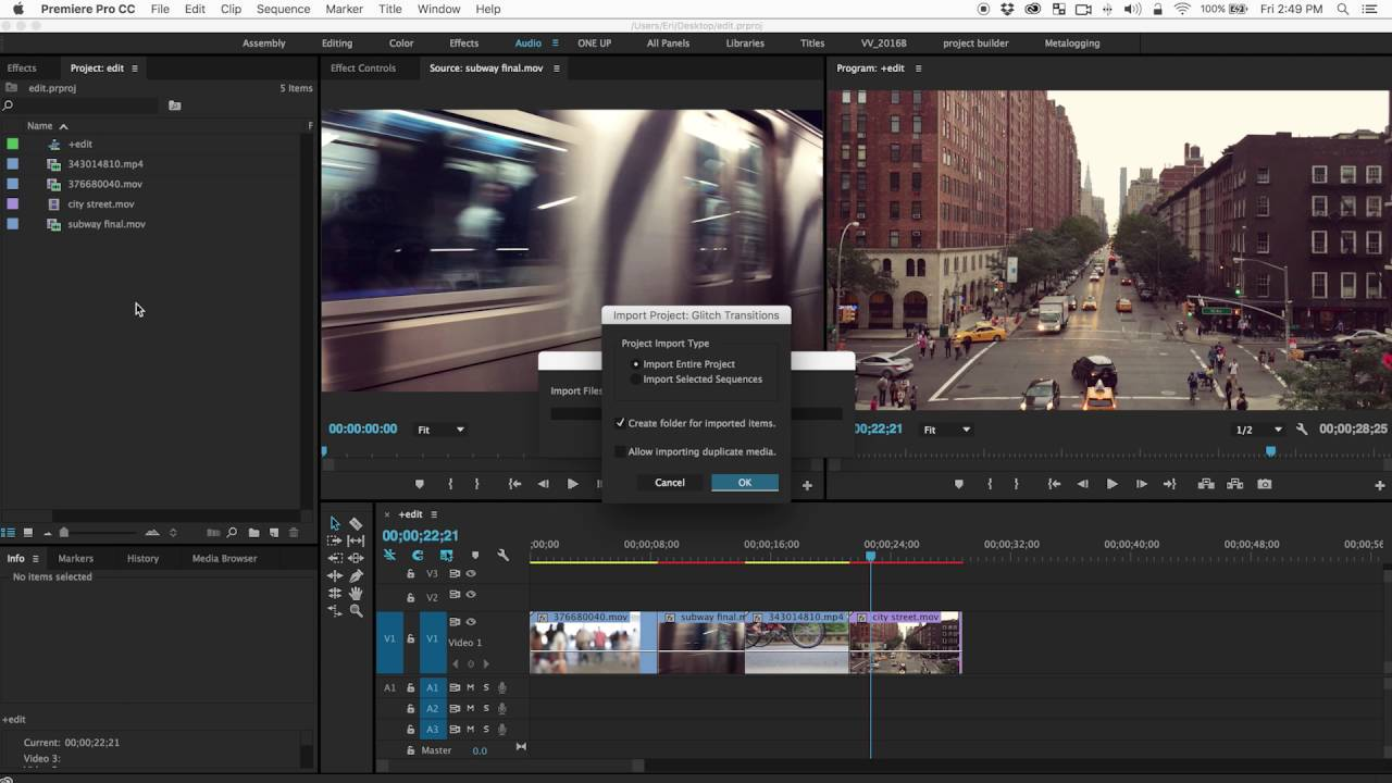 how to make transitions in premiere pro