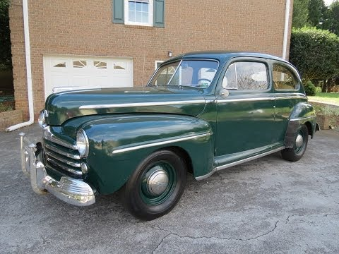 1948 Ford Super Deluxe 8 Tudor Start Up, Exhaust, Test Drive, and In Depth Review