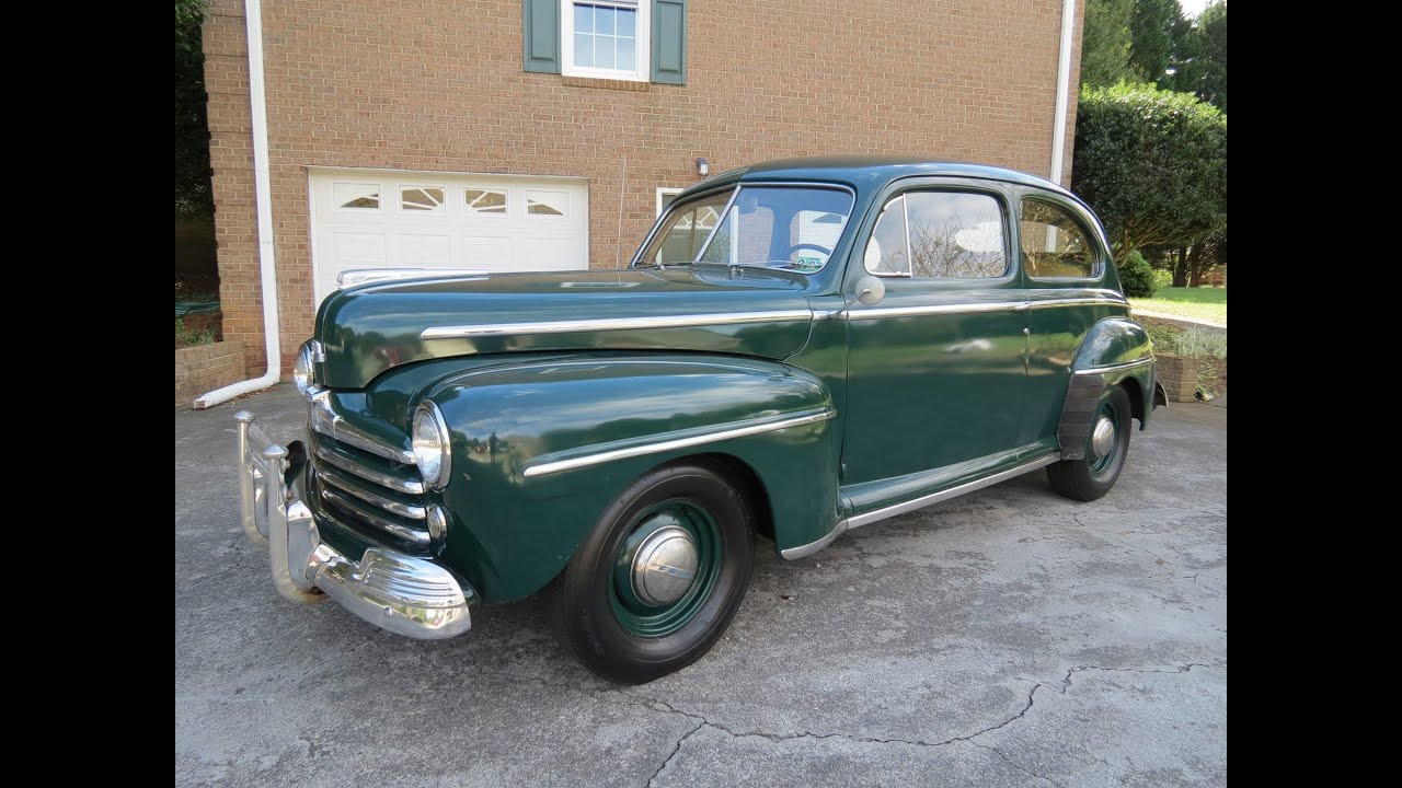 1948 Ford Super Deluxe 8 Tudor Start Up Exhaust Test Drive And In Master Cylinder Depth Review Youtube
