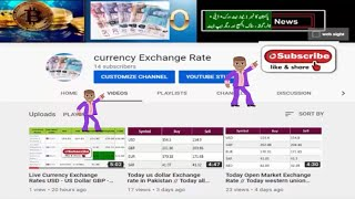 Today open market currency exchange rate in Pakistan Us Dollar | Euro | Pound | Canadian Dollar