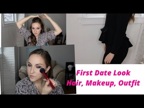First Date Look | Hair Makeup Outfit | Winter 2018