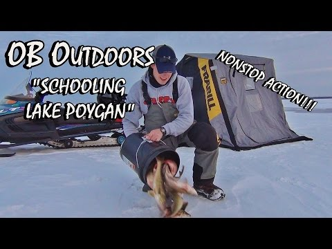 "CRAZY Lake Poygan Ice Fishing - Episode: 2.1 ""Schooling Lake Poygan"""