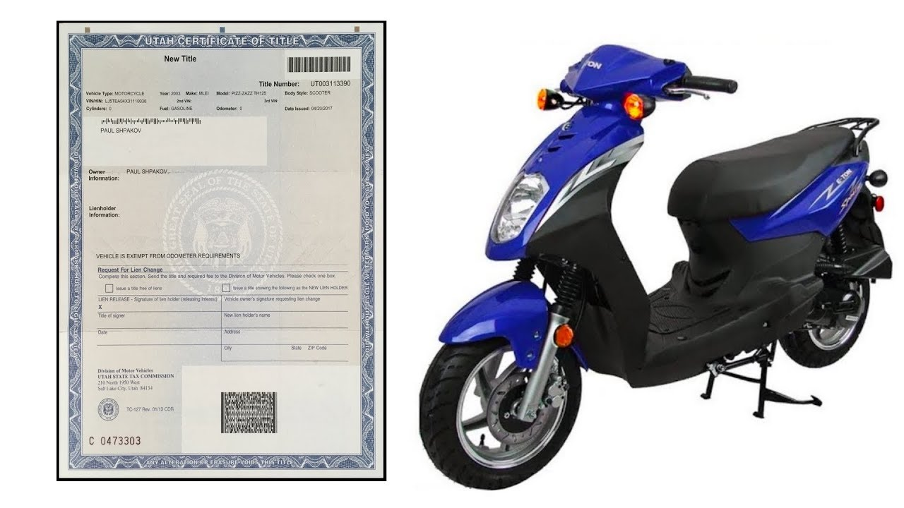 How To Get A Replacement Title For Your Scooter