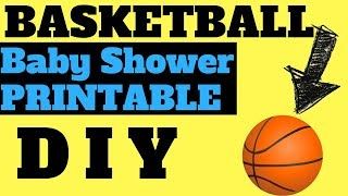 Basketball Baby Shower Theme And Printable Games Diy Guide