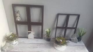 Deko Fenster aus Bilderrahmen basteln