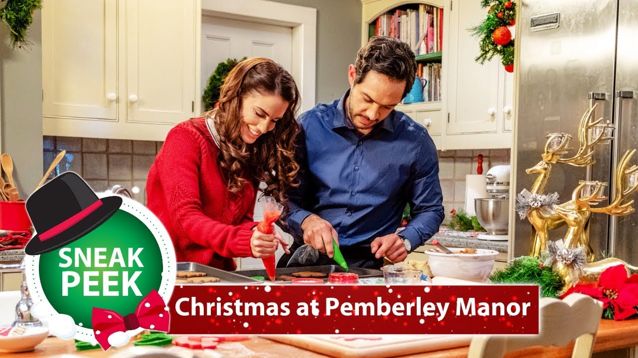 Christmas At Pemberley Manor Cast.Christmas At Pemberley Manor Exclusive Sneak Peek Jessica Lowndes Michael Rady Hallmark Channel