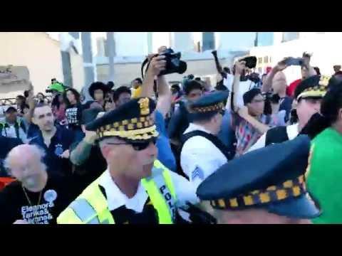 Activist Ja'Mal Green At Taste of Chicago Protest