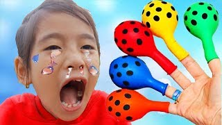 Learn Colors with Balloons, Baby Nursery Rhymes Song Finger Family Songs for Toddlers