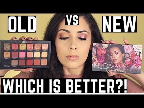 NEW Rose Gold Remastered VS Original Textured Rose Gold Eyeshadow Palette Huda Beauty | Tutorial