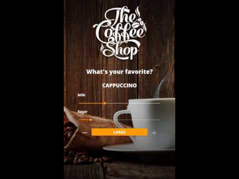 Qt Quick Controls 2 - Coffee machine demo