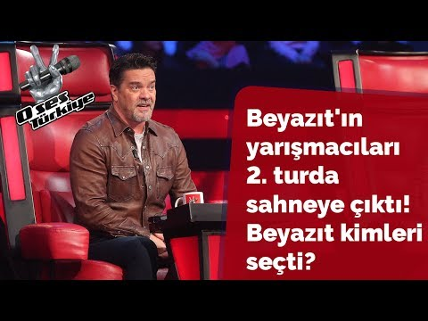 Beyazıt's contestants on stage in the second round! Who chose Beyazıt? | The Voice of Turkey 2018