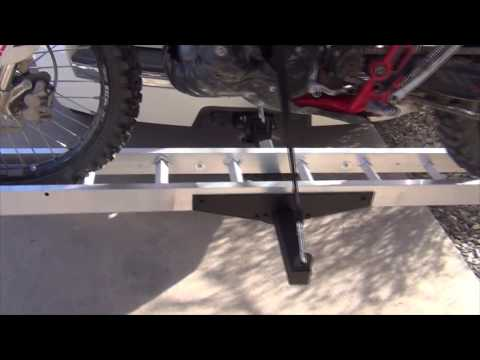 AMC-400 Motorcycle Hitch Carrier - Installed