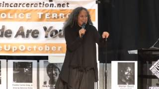 Gina Belafonte Speaks Aug27 NYC What We Must Do to STOP Police Terror and Murder