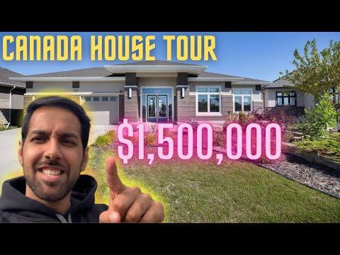 What $1,500,000 gets you in Canada || Canada House Tour || Winnipeg