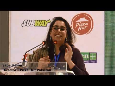 Saba Hasan at Pak Franchise Expo