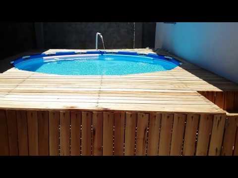 Deck de piscina autom tico doovi for Cubre piscinas automatico