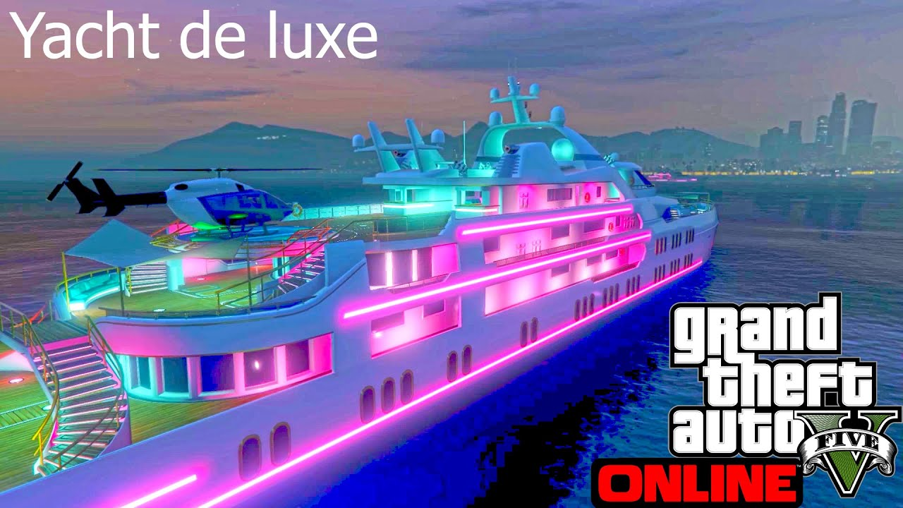 le yacht de luxe gta 5 online youtube. Black Bedroom Furniture Sets. Home Design Ideas