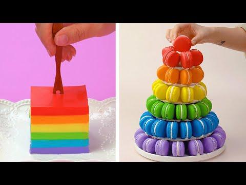 Easy Colorful Cake Decorating Ideas | So Yummy Perfect Macarons Cake Recipes | Tasty Cake Tutorials