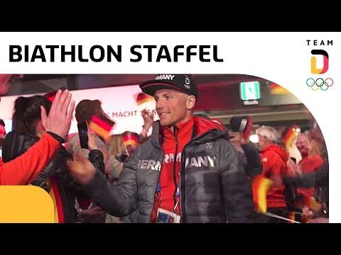 Deutsches Haus feiert Biathlon-Bronze der Männer-Staffel 🥉  Team Deutschland