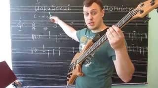 Теория. Построение простой басовой линии (Лады: Ионийский, дорийский)