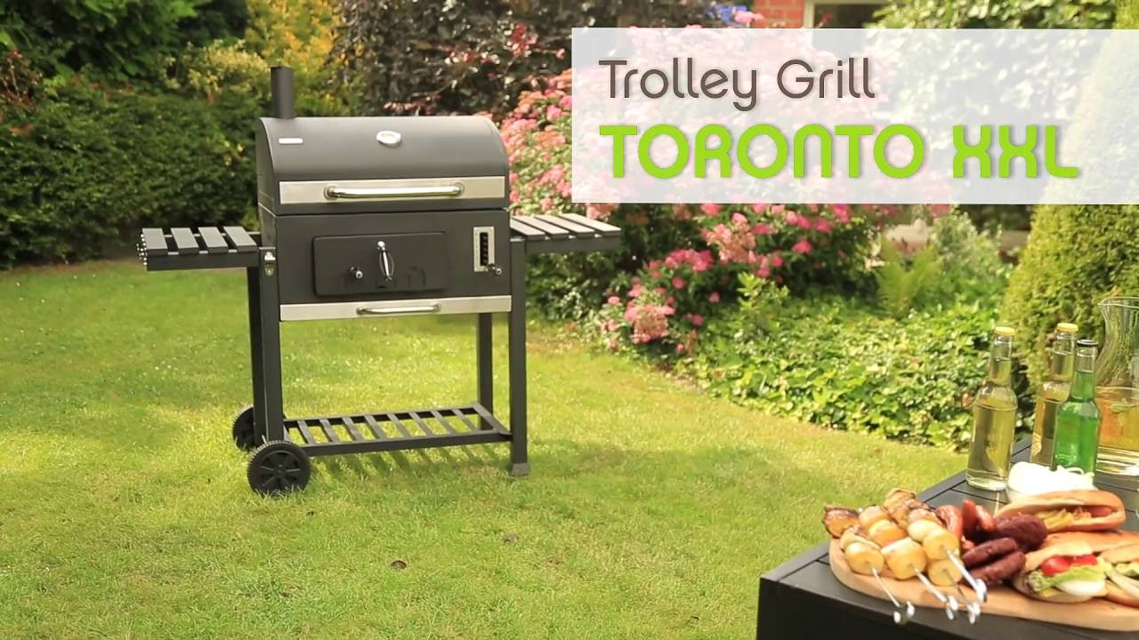 tepro grill trolley toronto xxl youtube. Black Bedroom Furniture Sets. Home Design Ideas