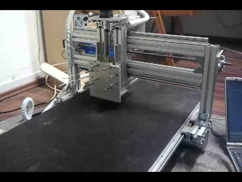 diy cnc fr se erster test mit allen 3 achsen youtube. Black Bedroom Furniture Sets. Home Design Ideas