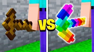 $100,000 RAINBOW PICKAXE vs $1 DIRT PICKAXE!