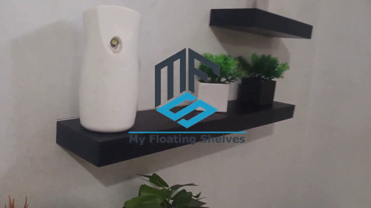 floating shelves 30 40 60 60 4pcs rak dinding gantung minimalis hitam