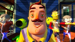 HELLO ZOMBIES - Hello Neighbor Plants vs Zombies MOVIE