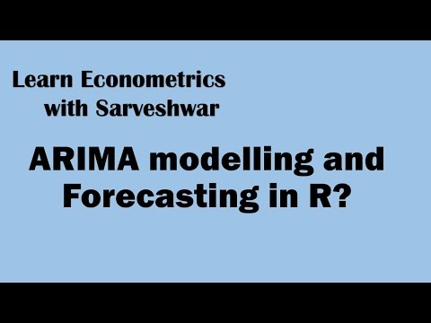 ARIMA Modelling and Forecasting in R