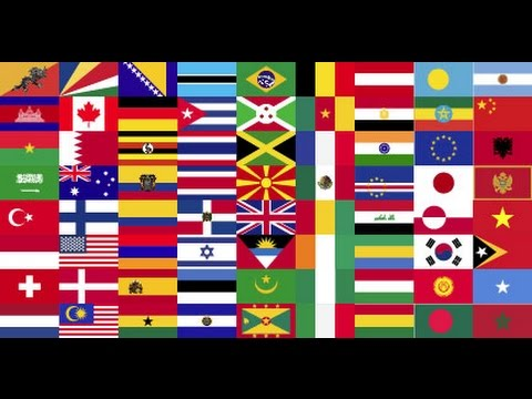 flags of all countries of the world with names 1st part music by