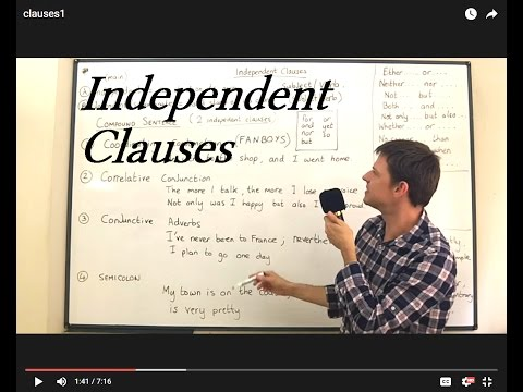 Clauses Lesson 1 - The Independent Clause