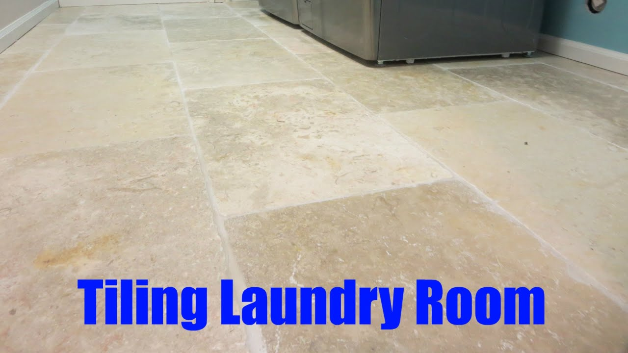 How To Tile A Laundry Room Youtube