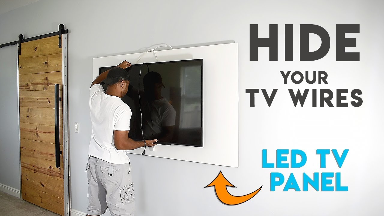 How to make a TV panel - Wall mount a TV and hide the wires Where Is Wiring In Walls on
