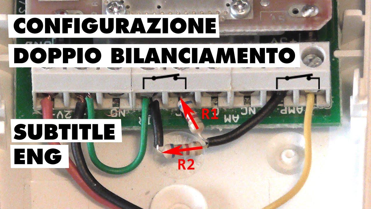 configurazione sensore di movimento con doppio
