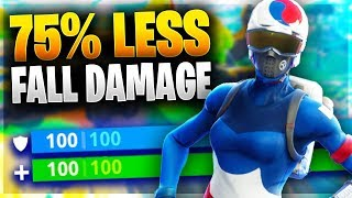 HOW TO TAKE 75% LESS FALL DAMAGE IN FORTNITE! Pro Tip to Reduce Fall Damage!