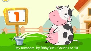 Educational games for kids- My Numbers by BabyBus - 1, 2,  3 - count 1 to 10