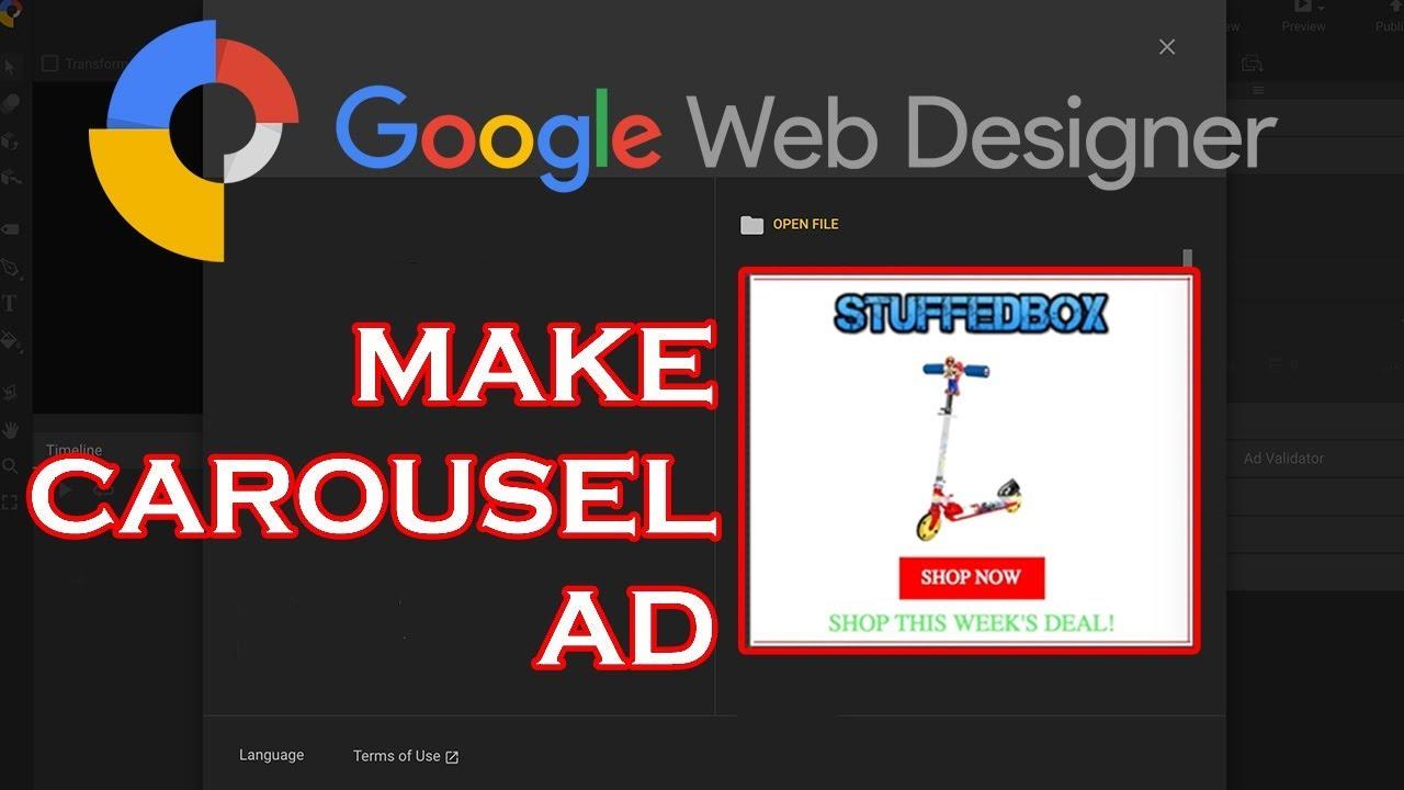 Google Web Designer Tutorial Carousel Banner Youtube