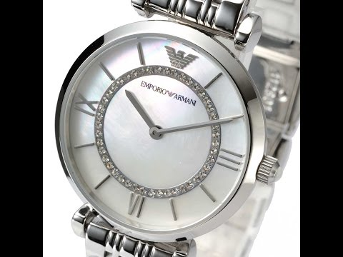 EMPORIO ARMANI AR1908 LADIES WATCH CLASSIC SILVER MOTHER OF PEARL REVIEW アルマーニ シルバー レビュー レディース