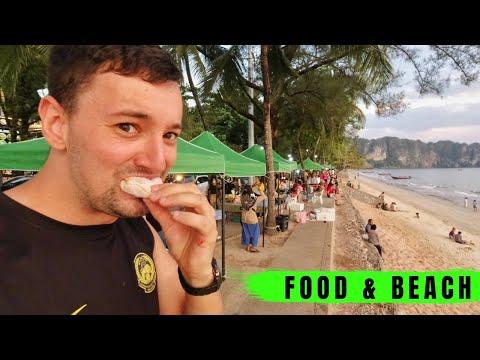 Thai Street Food Market Ao Nang Beach Krabi 🇹🇭