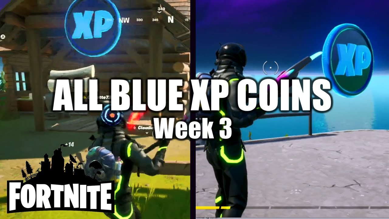 Fortnite ALL BLUE XP Coin Locations - Week 3