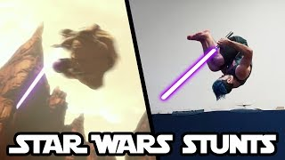 Doing Stunts From Star Wars In Real Life | part 2 (Lightsaber flips)