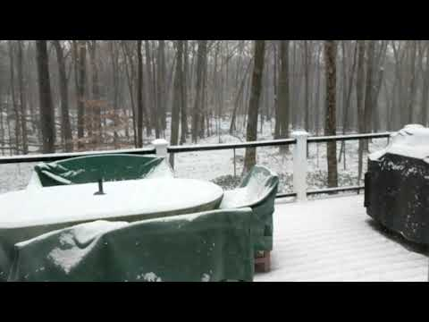 December 30 2017 Snow in Chappaqua New York