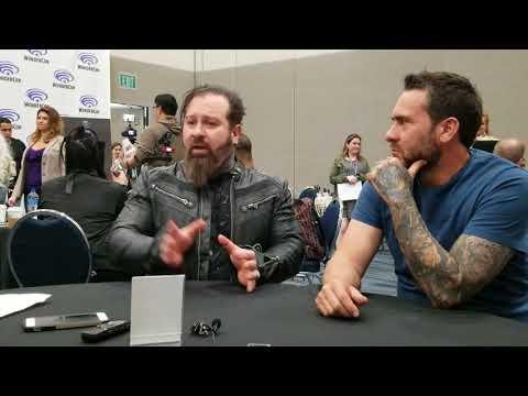 Glenn Hetrick and James Mackinnon at the Star Trek Discovery Roundtable at WonderCon 2018