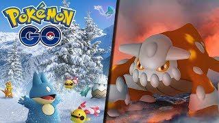GAMEPLAY EVENTO DE NATAL E RAID DE HEATRAN -  Pokémon Go | Completando a 4ª Gen (Parte 14)