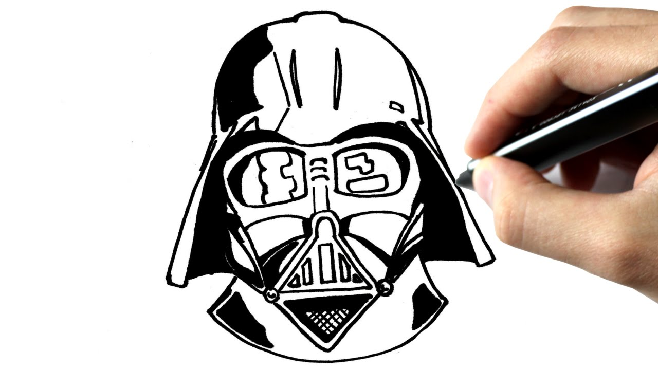 Comment Dessiner Dark Vador Star Wars Tutoriel Youtube